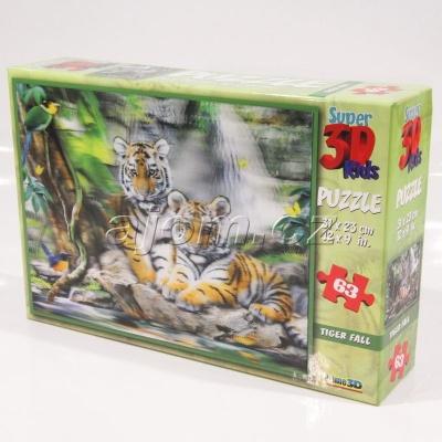 3D Puzzle Tygři - 63 dílků