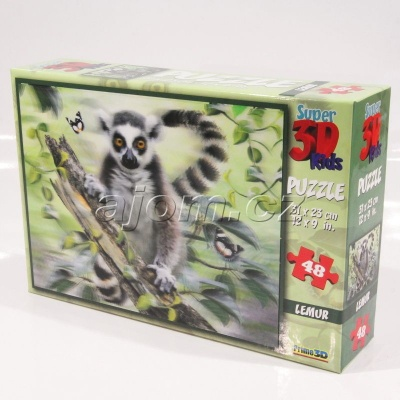 3D Puzzle Lemur - 48 dílků