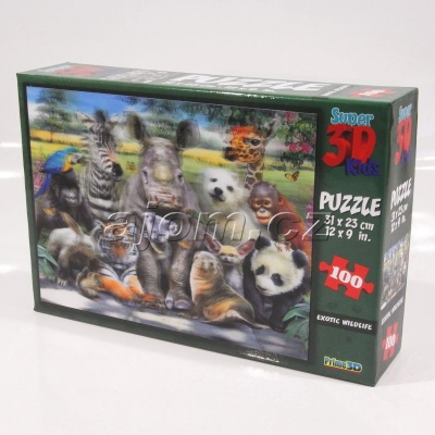 3D Puzzle Divočina - 100 dílků