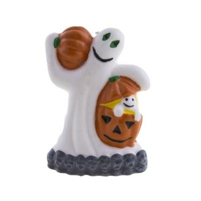 Svíčka Halloween - duch s dýní
