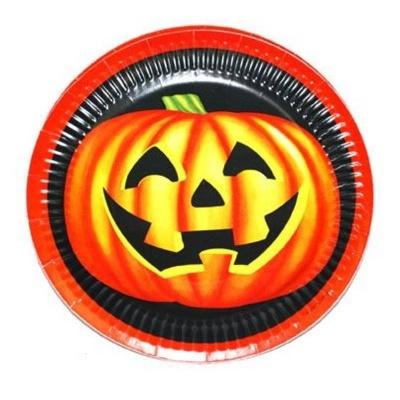 Papírové talíře Halloween dýně - 6ks