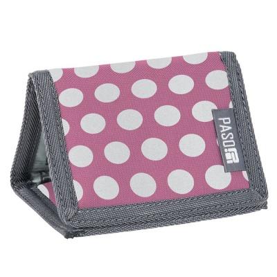 Textilní peněženka - Pink dots