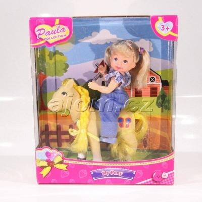 Panenka a poník - žlutý