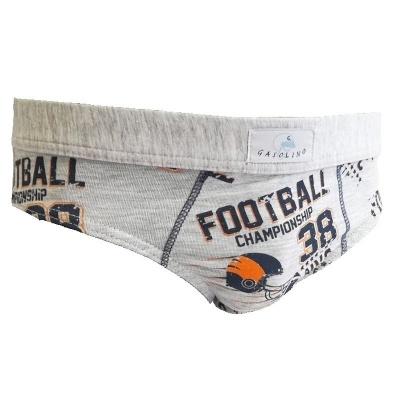 Chlapecké slipy Gasolino fotbal 2343 šedé