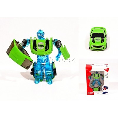 Auto 1:64 - robot transform - zelený