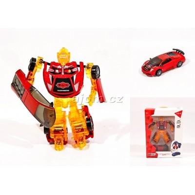 Auto 1:64 - robot transform - červený