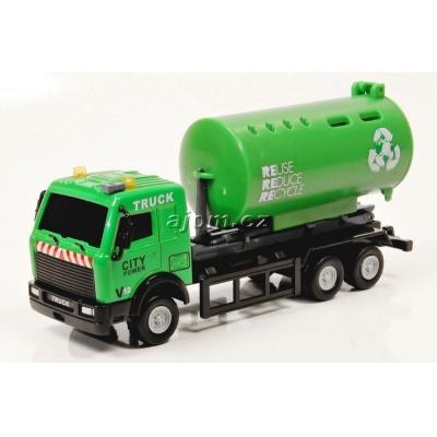 Model nákladního auta Mondo Motors kontejner na tříděný odpad - 1:64
