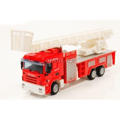 Model nákladního auta Mondo Motors hasiči žebřík - 1:64