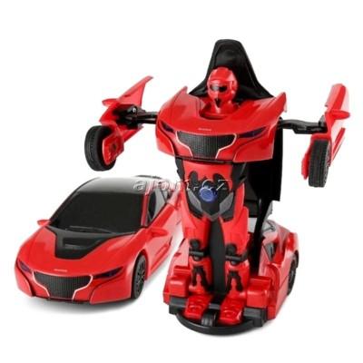 Auto robot transform 1:32 se světlem a zvukem - červený