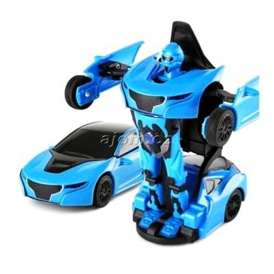 Auto robot transform 1:32 se světlem a zvukem - modrý