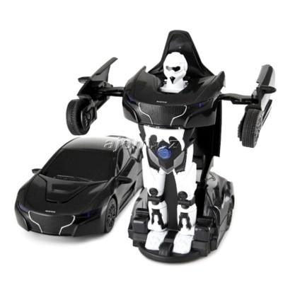 Auto robot transform 1:32 se světlem a zvukem - černý