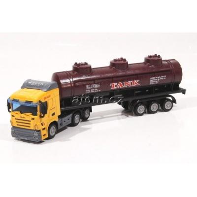 Model nákladního auta Mondo Motors tahač s návěsem cisterna - 1:65