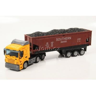Model nákladního auta Mondo Motors tahač s návěsem sklápěčka - 1:65