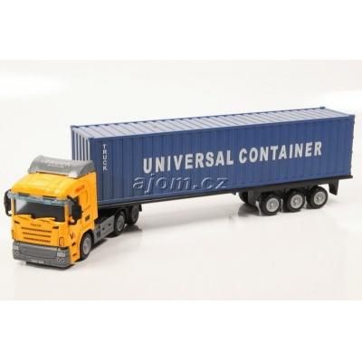 Model nákladního auta Mondo Motors tahač s návěsem kontejner - 1:65