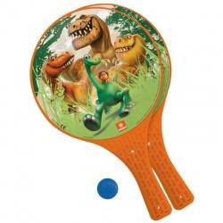 Pálky a míček plážový tenis Hodný dinosaurus