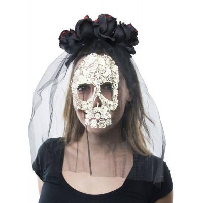 Čelenka se závojem a růžemi mrtvá nevěsta