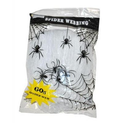 Pavučina bílá a pavouk - dekorace