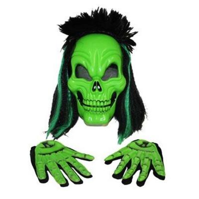 Maska lebka s rukavicemi