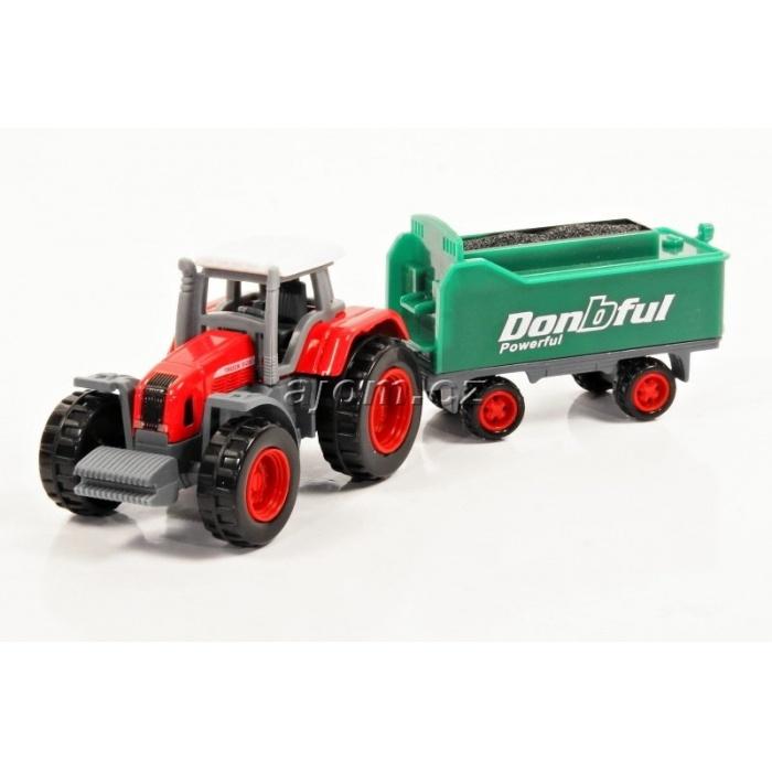 Model Traktor s vlečkou 01 - 1:27