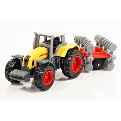 Model Traktor s vlečkou 02 - 1:27