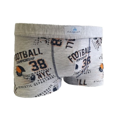 Chlapecké boxerky Gasolino fotbal 2342 šedé
