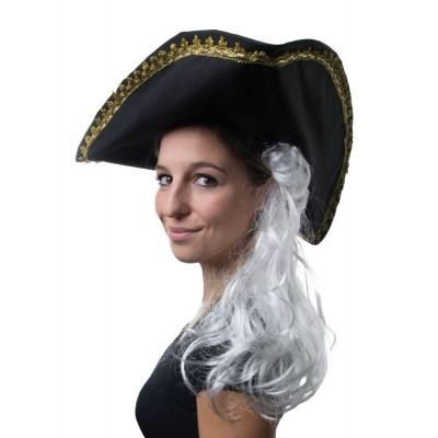 Historický klobouk s parukou