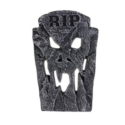 Dekorace náhrobek lebka 46cm