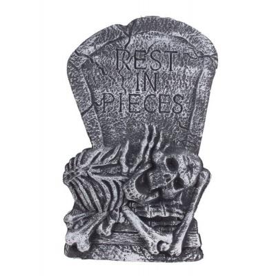 Dekorace náhrobek kostra 60cm