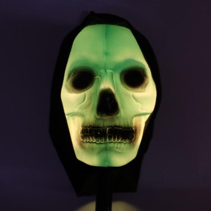 Hůl lebka svítící 80cm