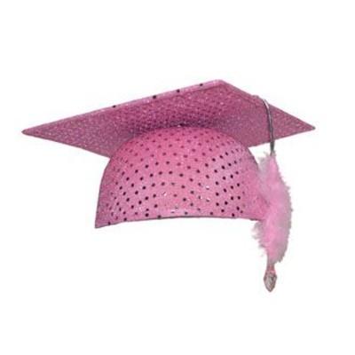 Promoční klobouk - růžový
