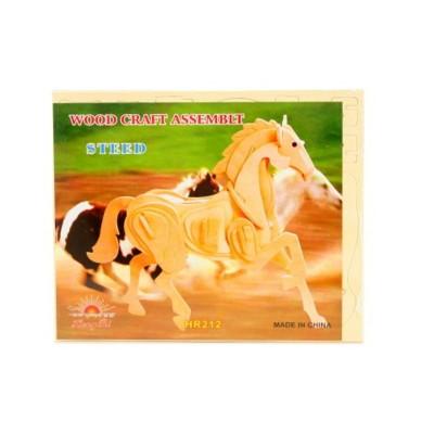 Dřevěné puzzle 3D - Kůň