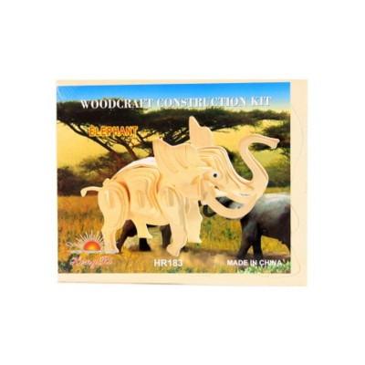 Dřevěné puzzle 3D - Slon