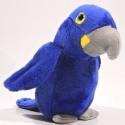 Plyšový Papoušek - modrý