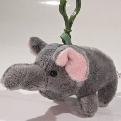 Plyšový přívěšek - klíčenka Slon