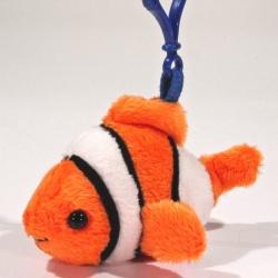 Plyšový přívěšek - klíčenka Rybka Klaun očkatý