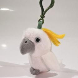 Plyšový přívěšek - klíčenka Papoušek Kakadu
