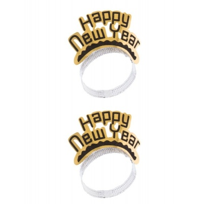 Silvestr čelenka Happy New Year 2ks