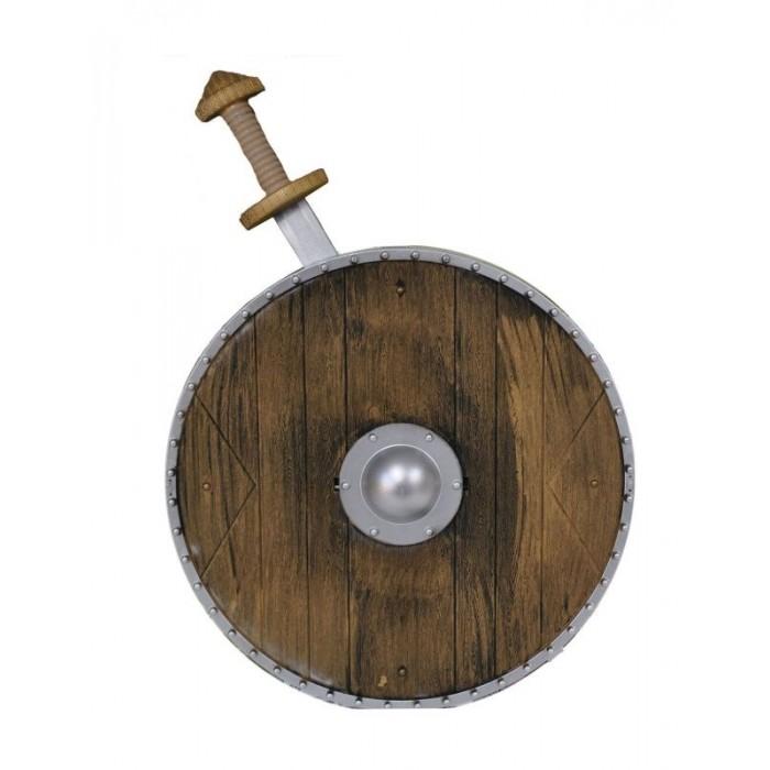 Viking štít a meč