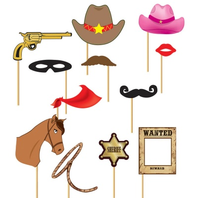 Doplňky do fotokoutku Western