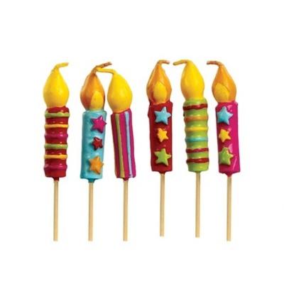 Svíčky na dort 6ks - barevné svíčky