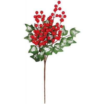 Vánoční dekorace zápich cesmína 50 cm