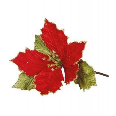 Vánoční dekorace zápich vánoční hvězda 20cm