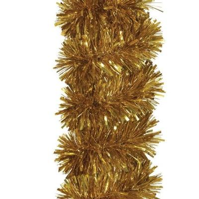 Vánoční ozdoba řetěz hustý zlatý 1,8 m