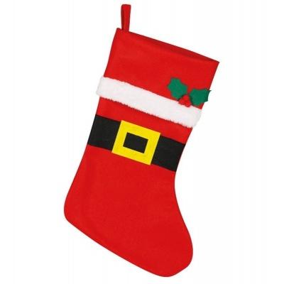 Vánoční punčocha červená 44 cm
