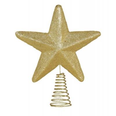 Vánoční ozdoba hvězda na špičku stromečku 19cm