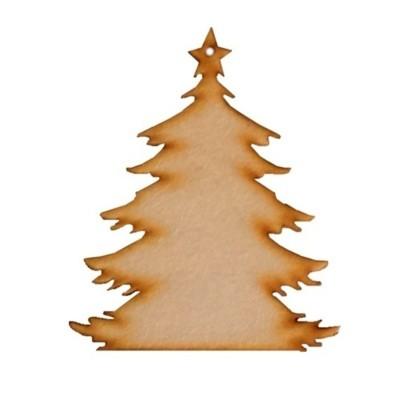 Vánoční ozdoba na zavěšení - stromeček 8,5cm