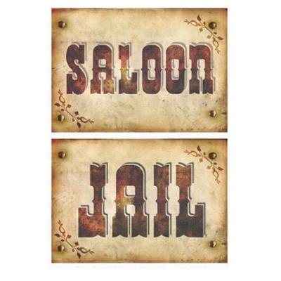 Dekorace western 2ks - Saloon a Jail