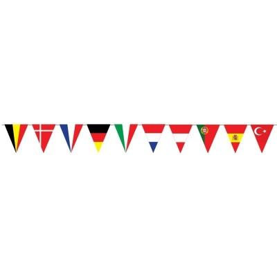 Girlanda Evropské vlajky trojúhelníkové 5m 10 vlajek