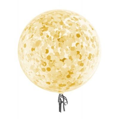 Balónek se zlatými konfetami 45cm