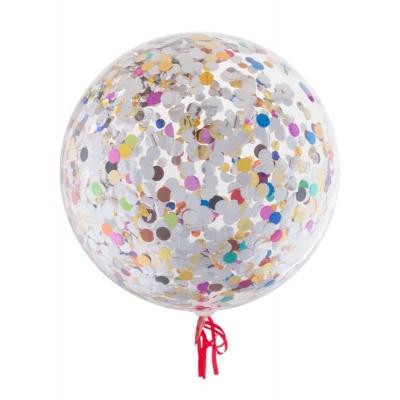 Balónek s barevnými konfetami